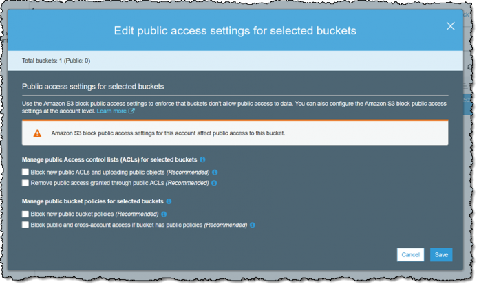 Amazon S3 Block Public Access – One other Layer of Security for Your Accounts and Buckets | Amazon Web Services
