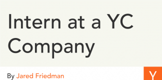 Intern at a YC Company